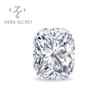 ForeverFlame G H 12.5ct cushion cut big diamond CVD CZ Moissanite