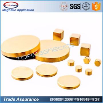 N35h Gold Coating ndfeb magnet