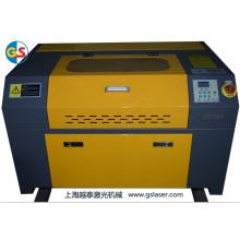 Fábrica de suministro de CO2 tubo de vidrio mini máquina de grabado láser (GS7050) con alta velocidad de corte