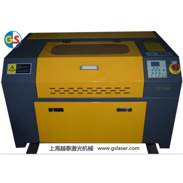 Machine de gravure à laser miniature à tube de verre CO2 (GS7050) à haute vitesse de coupe