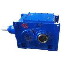 Reductor de engranajes industriales de caja de engranajes helicoidales cónicos serie Hb