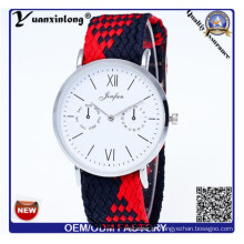 Yxl-202 2016 Novo Estilo Tecido Relógio Senhoras Knit Nylon Nato Strap Relógios Mulheres Relógio De Pulso Pulseira relógio