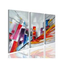 Arte colorido de la pintura al óleo moderna de la lona