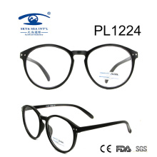 2017 New Arrival Round Shape PC Optical Glasses (PL1224)