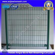 ПВХ покрытием сварной сварной сетки забор с (CE и SGS)