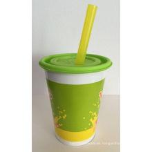 Copas de papel de alta calidad con tapas para bebidas