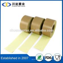 Isolant résistant à la chaleur ptfe revêtu d'emballage tissu ptfe ruban adhésif en fibre de verre