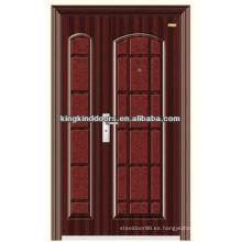 Mejor precio de una y media hoja de puerta de entrada puertas de KKD-555B de marca de fábrica superior China KKD