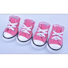 Lace Up Denim Pet Shoes de chaussures en toile classique chien