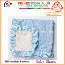 Tela suave de la manta del bebé del niño