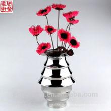 2016 nuevo resumen de acero inoxidable flor moderna decoración del hogar florero