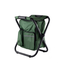 Hot selling cheap outdoor folding metal chairs folded cooler bag camping chair