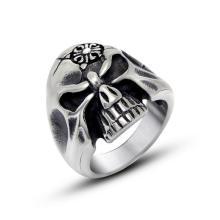 Из нержавеющей стали кости черепа панк Байкер мужская кольцо