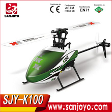 Hot selling XK K100 3D 6G mode RC Helicopter RTF 6CH rc airplane SJY-K100