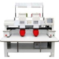 "Hot Selling 2 Head Cap Computer Embroidery Machine with 10"" Topwisdom LCD Touch Computer Panel Price"