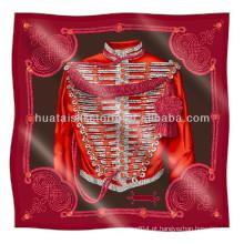 Lenço de seda sarja - design da Itália venda quente impresso lenço de seda twill