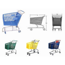 80l Custom Zinc Plated Australia Plastic Trolley One-stop Steel Supermarket  Shopping Cart