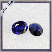 Luminous Exquisite Oval Brilliant Deep Blue Sapphire Corundum