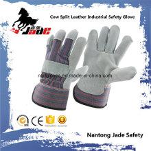 Guante de trabajo de seguridad industrial de piel de vaca gris