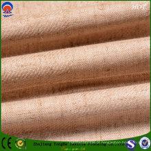 Revestimento Retardante de chama Cortina de linho de poliéster cortina tecido da fábrica de têxteis em casa