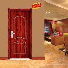 exterior bonito esculpida projeto de porta de madeira