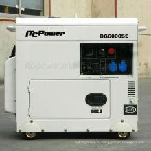 5kva тихий генератор дизель, большой топливный бак генератор, звукоизоляционный генератор дизель