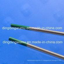 Électrodes de tungstène pur pour le soudage TIG
