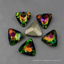 Perles de pierres de couleur arc-en-ciel