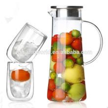 Jarro de vidro de venda quente jarro de água de jarro de bebida de chá gelado