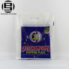Bolsos de compras plásticos baratos de la manija de la cuerda barata