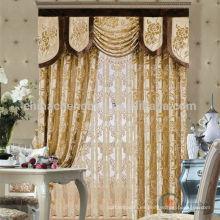 2015 de alta calidad elegante y moda diseño hotel tela cortina real