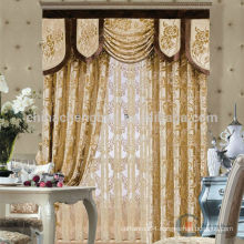 2015 high quality elegant & fashion design hotel fabric royal curtain