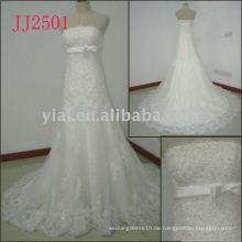JJ2501 neue Ankunft Kristall-Nixe-Spitze-Hochzeitskleider 2011