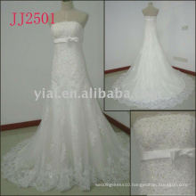 JJ2501 new arrival crystal mermaid lace wedding gowns 2011