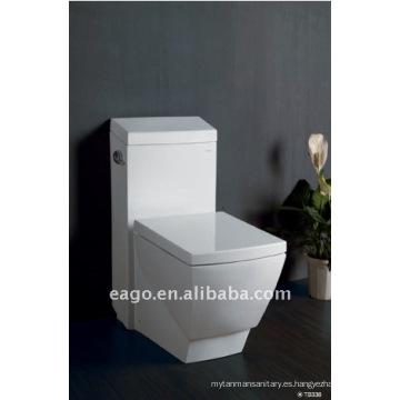 EAGO - Inodoro cuadrado de una pieza de cerámica con UPC y CUPC