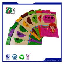 Verarbeitete Fleischverpackungsbeutel Kraftpapier Stand up Reißverschlussbeutel