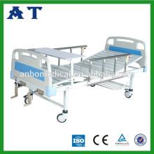Hospital ajustable de dos manivelas hierro antiguo camas de hospital