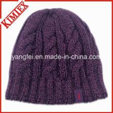 Новый дизайн вязания шапок теплый жаккардовый шапочка Cap