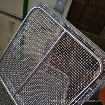 High-temperature Resistance 48x21x6CM 316 Stainless Steel Mesh Tray Used For Medical Sterilization
