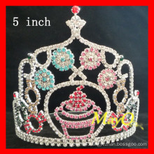 Wholesale Colored rhinestone Candy pageant crowns, sizes available