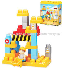 DIY City Super Builders Big Building Blocks, 34 Pieces, Puzzle Play Series, Safe and Non-toxic