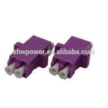 Высококачественный двухшпиндельный адаптер LC OM4 OM4 оптоволоконный адаптер с фиолетовым цветом