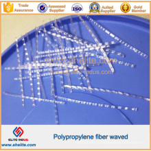 Fibre de vague de polypropylène / pp pour le béton