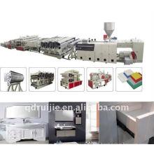 Linha de produção de placa de espuma de PVC semi crosta