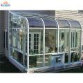 Casa de vidro ereta livre do preço de alumínio pré-fabricado