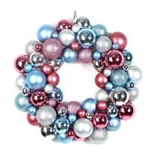 "16"" Plastic Illuminated Christmas Ornament Wreath"