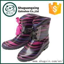дамы модные плоские ботинки дождя Китай дешевые ботинки дождя