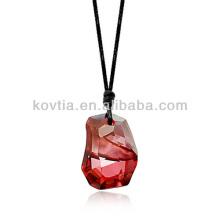 Der heißeste große österreichische Kristalldiamantschmuck Rubinanhänger