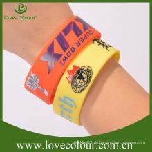 Fabrik Großverkauf multi Farben-Gummi-Andenken-Sport Wristband