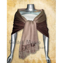 Double Face solid color viscose shawl